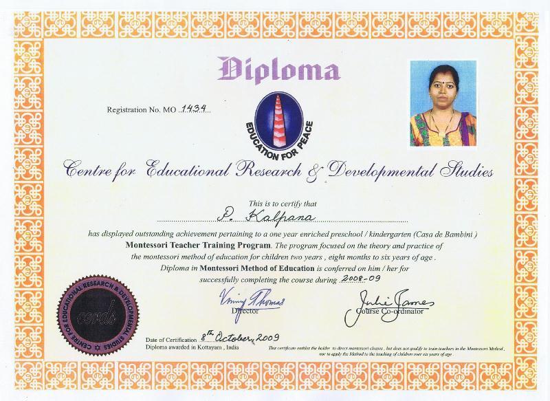 certificate montessori teacher training care academy admission